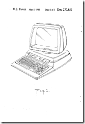 FIG. 1 is a perspective view of a computer showing my new design;